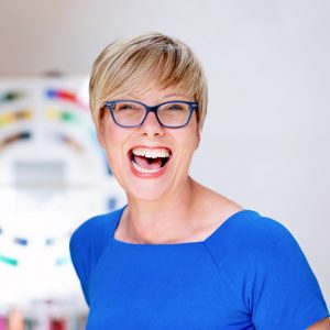 personal branding headshot woman laughing